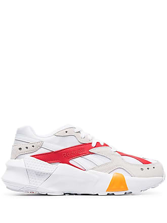 05933e8ae71 Reebok white Aztrek chunky low-top leather sneakers - White/True Grey/Red