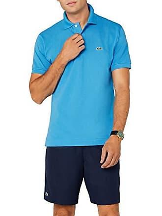 7c97395794 Lacoste L1212 - Polo - Coupe droite - Manches courtes - Homme - Bleu (Ibiza