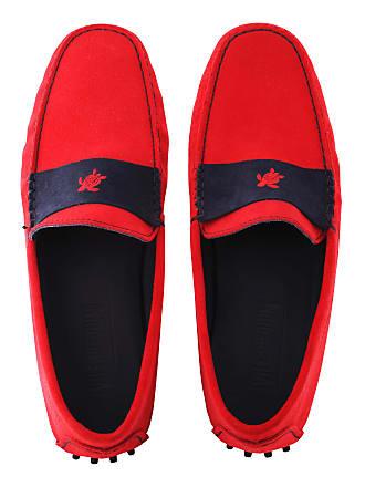 Vilebrequin Men Accessories - Men Very soft Daim Loafers Solid - SHOES - JOHN - Red - 46 - Vilebrequin