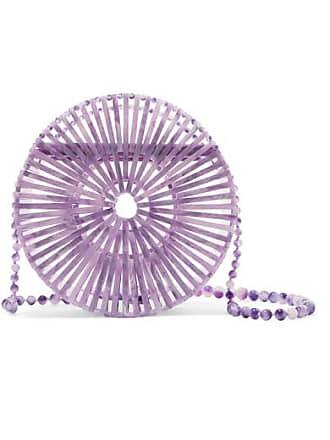 Cult Gaia Luna Marbled Acrylic Shoulder Bag - Lilac