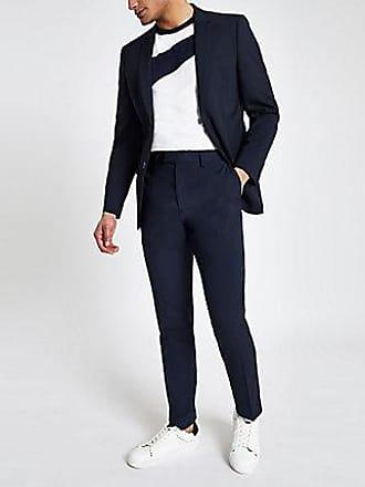 River Island Mens Navy slim fit suit pants