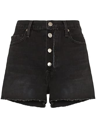 Frame Denim Le Vintage raw trim shorts - Preto