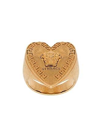 Versace heart-shape Medusa motif ring - Dourado