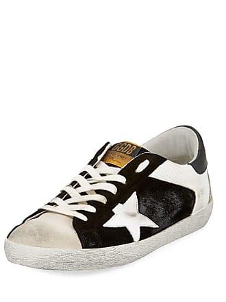 Golden Goose Mens Superstar Leather/Suede Low-Top Sneakers