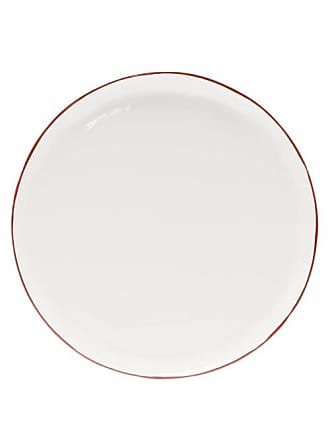 Feldspar Painted-rim Fine China Dinner Plate - Red White
