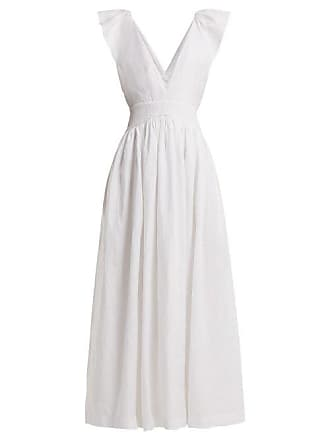 Kalita Persephone Linen Maxi Dress - Womens - White