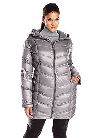 9f3a336c414 Calvin Klein Womens Plus-Size Mid-Length Packable Chevron Down Coat Plus