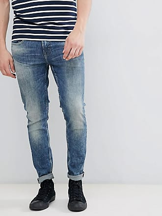Only & Sons Washed Skinny Fit Jeans - Blue