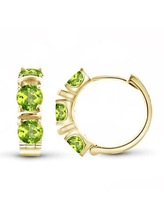 JewelersClub JewelersClub 4 1/2 Carat T.G.W. Peridot 14kt Gold OVer Silver Hoop Earrings