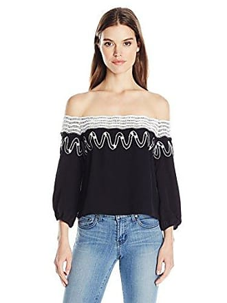 d50aefbd5953b Guess Womens Off Shoulder Kara Embroidery Top