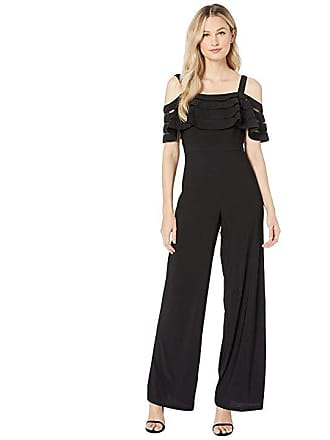 cf7f854251a2 Adrianna Papell Banded Off Shoulder Jumpsuit (Black) Womens Jumpsuit    Rompers One Piece