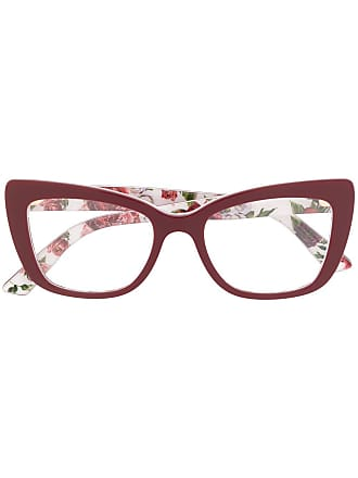 Dolce & Gabbana Eyewear rose print glasses - Red
