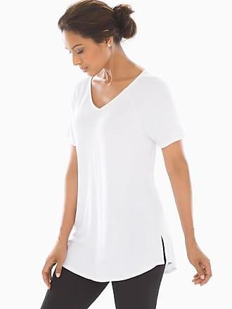 Soma Soft Jersey Short Raglan Sleeve Tunic Bright White, Size XS