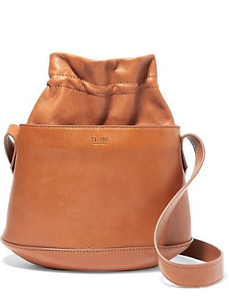 TL-180 Marcello Textured-leather Bucket Bag - Tan