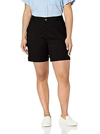 Lee Womens Plus Size Flex-to-Go Relaxed Fit Cargo Short, Black, 24W Medium