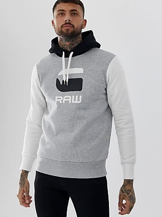 G-Star Graphic logo hooded sweat in gray - Gray