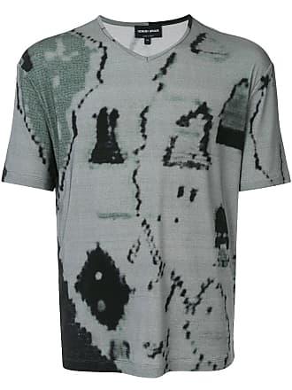 Giorgio Armani Camiseta com estampa abstrata - Verde