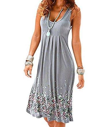445fc8107cc5e9 Uface Damen Kleider Sommer Strand Grünes Kleid Damen Langarm Kleid Braun  Mädchen Damen Kleider Sommer Casual