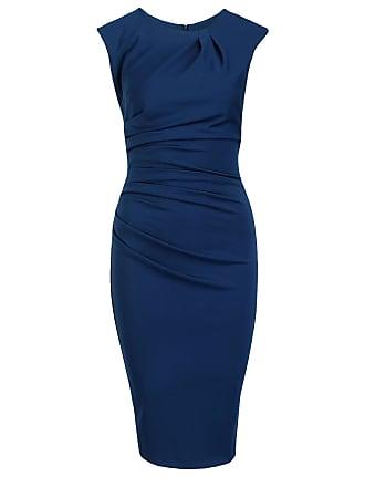 Kleid blau dreiviertel arm
