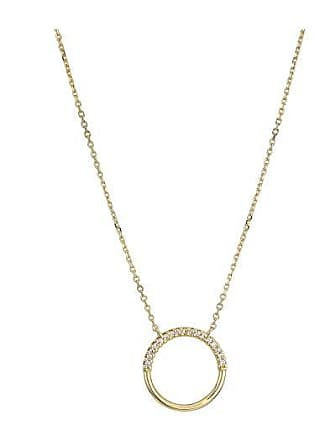 1b67c5b18ea75a Michael Kors Precious Metal-Plated Sterling Silver Pave Circle Starter  Necklace (Rose Gold)