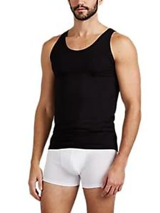 Zimmerli Mens Piqué Como Cotton-Blend Tank Top - Black Size M