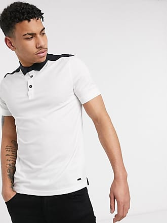 BOSS Polo Pickout de BOSS-Blanco