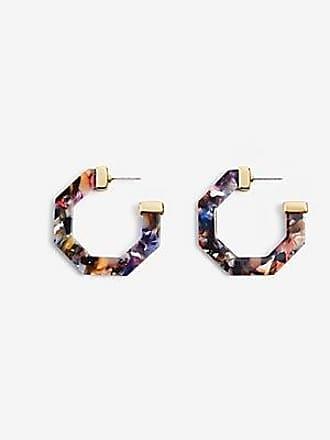 ANN TAYLOR Marbleized Hexagon Hoop Earrings