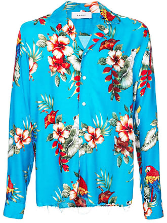 Rhude Camisa com estampa floral - Azul