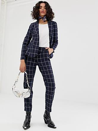 Vero Moda grid check pants - Navy