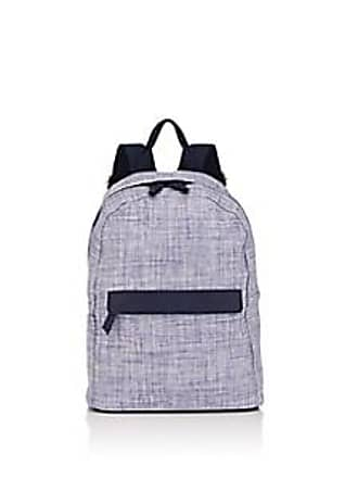 0ea0d640c326 Barneys New York Womens Faux-Leather-Trimmed Woven Backpack - Blue