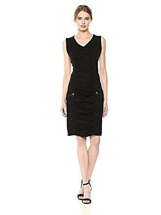 Xcvi Womens Banggai Dress-Stretch Poplin, Black, Extra Small