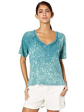 Skinnygirl Womens Emerald Short Sleeve Knit Top, Meadowbrook, Medium
