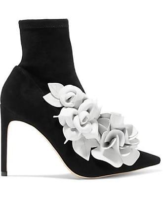 a3ee29ef95 Sophia Webster Jumbo Lilico Leather-appliquéd Suede Ankle Boots - Black