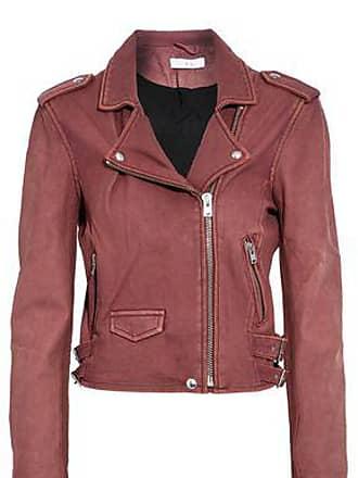 Iro Iro Woman Washed-leather Biker Jacket Brick Size 38