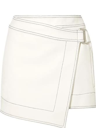 Dion Lee Asymmetric Crepe Mini Wrap Skirt - Ivory