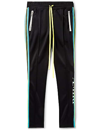 Amiri Skinny-fit Webbing-trimmed Tech-jersey Sweatpants - Black