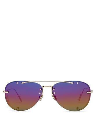 a61ae06e591db Lunettes Dior Diorchroma Aviator Metal Sunglasses - Mens - Gold