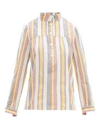 A.P.C. A.p.c. - Loula Striped Cotton Crepe Blouse - Womens - Ivory Multi
