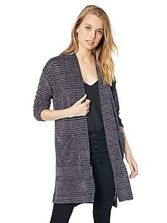 Jones New York Womens Striped Cardigan W/Pockets, Ink, S