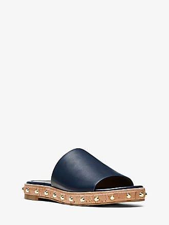Michael Kors Ellen Leather Slide Sandal