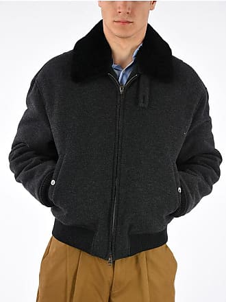 Alexander McQueen Virgin Wool Cashmere blend Bomber With Real Fur size 48