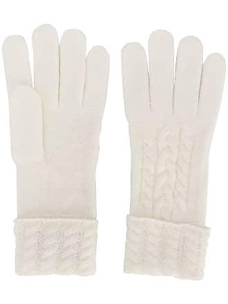 N.Peal Par de luvas em cashmere - Branco