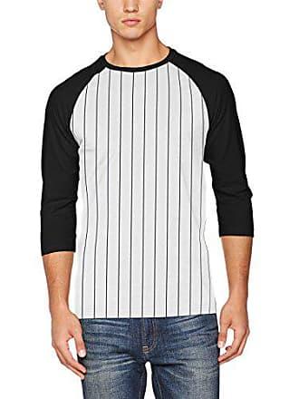 459879263d7e Urban Classics TB1567 Herren T-Shirt Contrast 3 4 Sleeve Baseball Tee  Mehrfarbig (