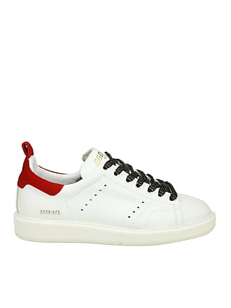 Golden Goose Sneaker Starter bianca con inserto rosso 05fd883653c