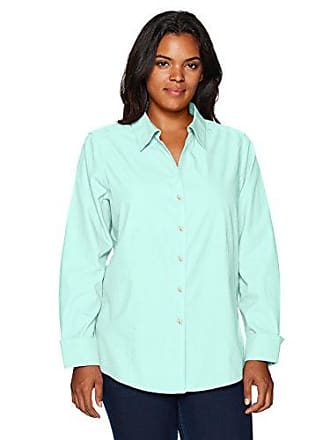 13db6aee80a0ab Foxcroft Womens Plus Size Long Sleeve Lauren Essential Non Iron Shirt