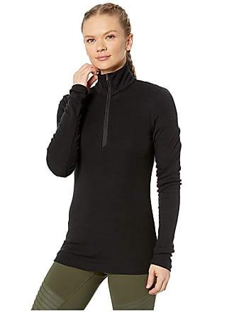 Icebreaker 175 Everyday Merino Baselayer Long Sleeve 1/2 Zip (Black) Womens Clothing