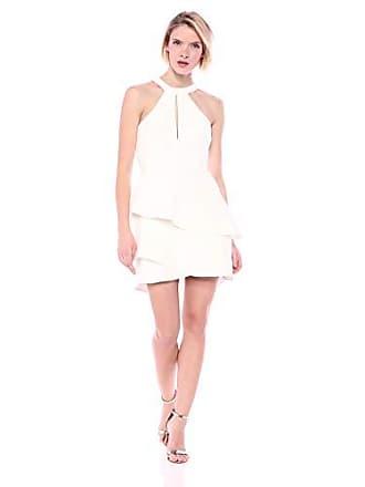 29a4f1a0632d8 Bcbgmaxazria BCBGMax Azria Womens Asymmetrical Ruffle Halter Dress, Off Off  White, 6