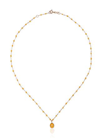 Gigi Clozeau Colar RG ouro rosê com diamante - Amarelo