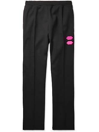 Off-white Logo-trimmed Stretch-jersey Sweatpants - Black