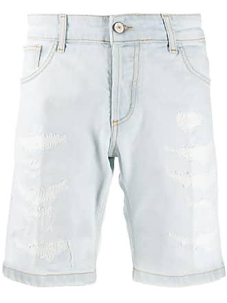 Entre Amis distressed denim shorts - Azul